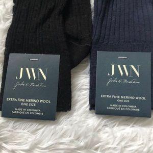 John W. Nordstrom Underwear & Socks - (2) NWT JWN Merino wool cable knit socks
